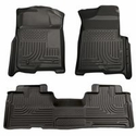 Husky Weatherbeater Front & 2nd Seat Floor Liners (09-14 SuperCab, SuperCrew) - Husky 98331||98341