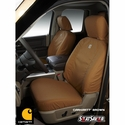 Carhartt Front Seat Covers - Brown (09-10 w/ 40/20/40 Bench Seat, w/ Center Bottom Storage, w/ Adjustable Headrests, w/ Fold Down Covered Console w/ Seat Airbag) - Carhartt SSC3396CABN