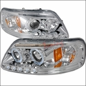 Chrome LED Dual Halo Projector Headlights (97-03 All) - AT Lights 2LHP-F15097-TM