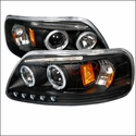 LED Dual Halo Projector Headlights (97-03 All) - AT Lights 2LHP-F15097JM-TM