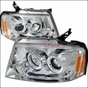 Chrome Dual Halo Projector Headlights (04-08 All) - AT Lights 2LHP-F15004-TM
