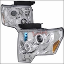 Chrome Dual Projector Headlights with LED's (09-11 All) - AT Lights 2LHP-F15009-TM