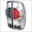 Chrome LED Tail Lights (97-03 All) - AT Lights LT-F15097CLED-RS