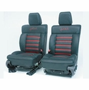 Roush Leather Seating Black/Red (04-08 F150 - SuperCab/SuperCrew) - Roush R13030034||R13030035