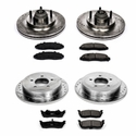 Power Stop 1-Click Front & Rear Brake Kit (00-04 2WD, 5-Lug) - Power Stop K1915