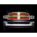 Putco Flaming Inferno Multi Colored Stainless Steel Grille w/ Logo Cutout for OE Bar Style Grille (04-08 All) - Putco 89341