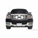 Putco Flaming Inferno Stainless Steel Grille w/ Logo Cutout for OE Honeycomb Style Grille (04-08 All) - Putco 89142