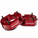 ReadyLIFT 2.5 in. Billet Aluminum Leveling Kit - Anodized Red (04-14 2WD, 04-08 4WD) - ReadyLIFT T6-2058R