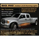 Recon 62 in. BIG RIG LED Running Light Kit - Amber (97-14 All; Raptor) - Recon 26414
