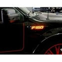 Recon Illuminated 2 Piece Emblem Kit - Black (09-14 F-150 All) - Recon 264282AMBK||264282RDBK||264282WHBK