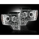 Recon Projector Headlights - Clear Lens (09-14, excludes 13-14 Lariat, King Ranch, FX2, FX4, and Raptor with Factory HID's) - Recon 264190CL