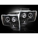 Recon Projector Headlights - Smoked Lens (09-14, excludes 13-14 Lariat, King Ranch, FX2, FX4, and Raptor with Factory HID's) - Recon 264190BK