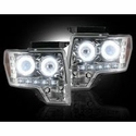 Recon Projector Headlights w/ CCFL Halo - Clear Lens (09-14, excludes 13-14 Lariat, King Ranch, FX2, FX4, and Raptor with Factory HID's) - Recon 264190CLCC