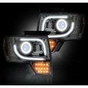 Recon Projector Headlights w/ High Power Amber Lens - Clear Lens (13-14 with Factory Projectors) - Recon 264273CLC