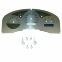 Stainless Steel Gauge Face Kit - Blue (04-06 Lariat) - AT Interior SSF06B