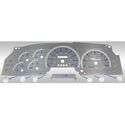 Stainless Steel Gauge Face Kit - Blue (97-98 All) - AT Interior SSF00B