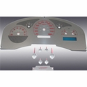 Stainless Steel Gauge Face Kit - Red (04-06 Lariat) - AT Interior SSF06R