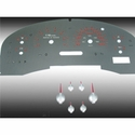 Stainless Steel Gauge Face Kit - Red (04-08 XLT) - AT Interior SSF05R||SSF15R