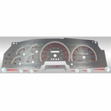 Stainless Steel Gauge Face Kit - Red (97-98 All) - AT Interior SSF00R