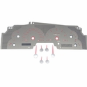 Stainless Steel Gauge Face Kit - Red (99-03 All) - AT Interior SSF01R