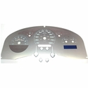 Stainless Steel Gauge Face Kit - White (04-06 Lariat) - AT Interior SSF06W