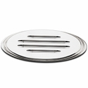 Tailgate Emblem Oval Step Style Polished With Ball Milled Lines, 7 in. Length (09-14 w/Camera) - AT Exterior 52701