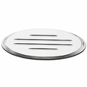 Tailgate Emblem Oval Step Style Polished With Ball Milled Lines, 9 in. Length (04-14 w/o Camera) - AT Exterior 52901