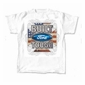 White Built Ford Tough T-Shirt - Mens X-Large (X-Large) - AT Accessories FMBFF