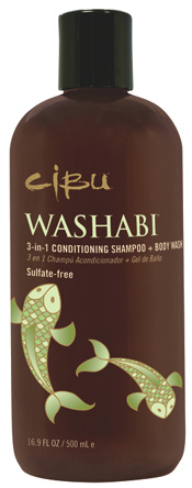 CIBU Washabi 3 in 1 Conditioning Shampoo + Body Wash
