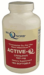 Active Q | Tishcon Co Q10 | 100mg | 180 Count | Ships Free