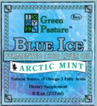 BLUE ICE Fermented Cod Liver Oil | Green Pasture | Arctic Mint (Liquid)