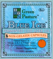 Green Pasture | Blue Ice Fermented Cod Liver Oil | Non-Gel Orange Capsules
