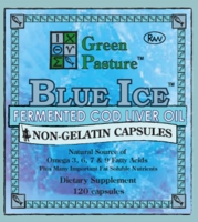 Blue Ice Fermented Cod Liver Oil Non-Gelatin Capsules | Green Pasture