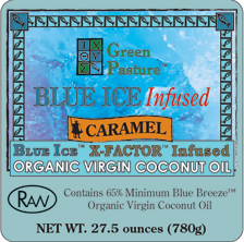 BLUE ICE� Infused Organic Virgin Coconut Oil-CARAMEL-Family Size