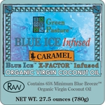 BLUE ICE™ Infused Organic Virgin Coconut Oil-CARAMEL-Family Size