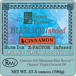 BLUE ICE� Infused Organic Virgin Coconut Oil-CINNAMON-Family Size