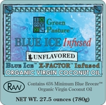 BLUE ICE� Infused Organic Virgin Coconut Oil - UNFLAVORED-Family Size