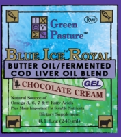 BLUE ICE Royal Butter Oil/Fermented Cod Liver Oil Blend - Chocolate Cream