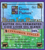BLUE ICE Royal Butter Oil/Fermented Cod Liver Oil Blend - Cinnamon Tingle (Gel)