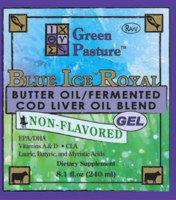 BLUE ICE Royal Butter Oil/Fermented Cod Liver Oil Blend | Non-Flavored (Gel)