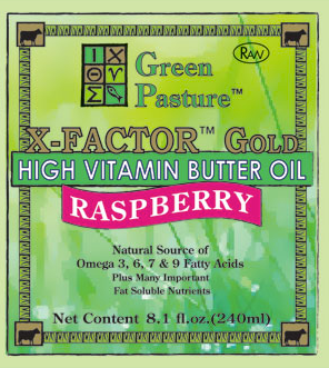 X-FACTOR� Gold High Vitamin Butter Oil | Raspberry | Green Pasture