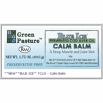 Calm Balm | Green Pasture | Blue Ice Fermented Cod Liver Oil