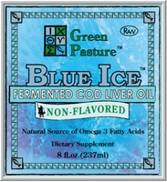 Green Pasture's Blue Ice Fermented Cod Liver Oil Products