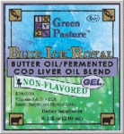 Green Pasture's Blue Ice Royal - Butter Oil/Fermented Cod Liver Oil Blend