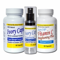 Ivory Caps Complete Skin Lightening Support - System 1