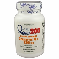 Q-Gel 200mg Double Strength CoQ10 | Tishcon CoQ10 | Ships Free