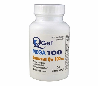 Q-Gel Mega 100 CoQ10 | Tishcon | 60 Softgels