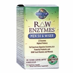 RAW Enzymes Men 50 & Wiser | Garden of Life | 90 Capsules