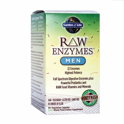 RAW Enzymes™ Men | Garden of Life | 90 Capsules