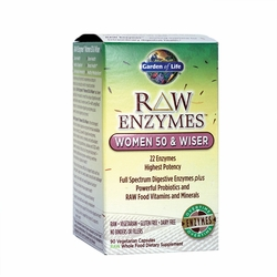 RAW Enzymes™ Women 50 & Wiser | Garden of Life | 90 CNT